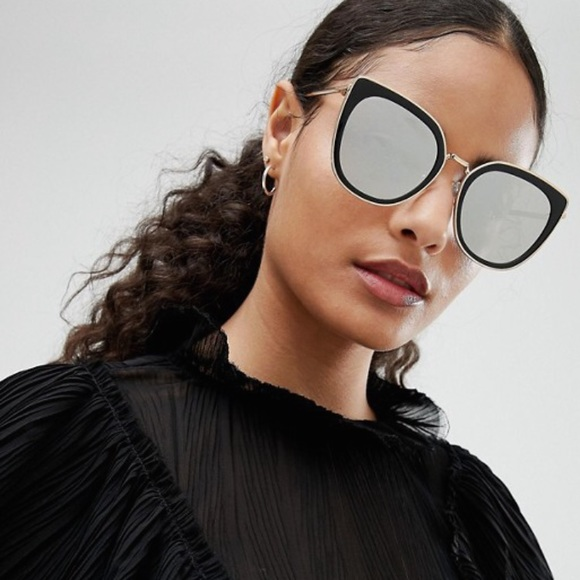 67d0c583649 ASOS Accessories - Jeepers Peepers cat eye sunglasses in black